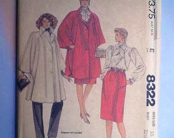 Vintage 80s Halston Wardrobe Pattern 32 1/2