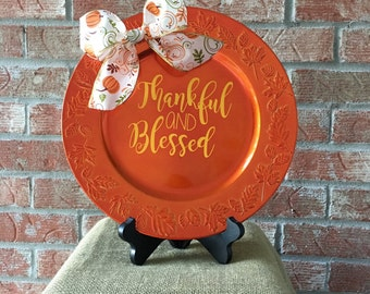 Thanksgiving decorative charger