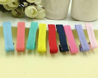 10 PCS 9*45mm  Multi-colored Thread Tape flat top metal hair alligator clip (1-26)