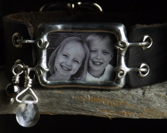 Custom Soldered Bracelet with Leather Band