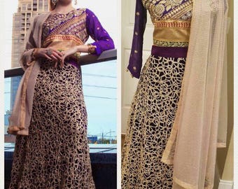 Purple Passion Indian Party Dress.
