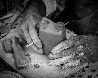 Working Hands Clay Sculptor Old Hands