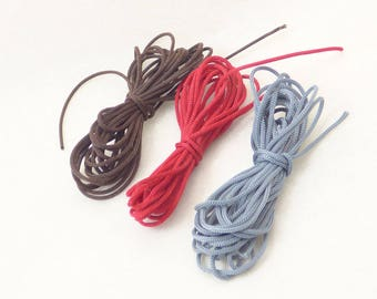 6 m satin cord 0.8 mm 3 colors