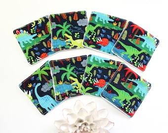 Zero Waste Dinosaur Cotton Rounds, Reusable Makeup Remover Pads Gift For Women, Eco Friendly Facial Rounds