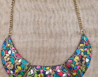 Mosaic collection - crescent necklace - Kaleidoscope