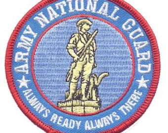 Army National Guard Patch - USA (Iron on)