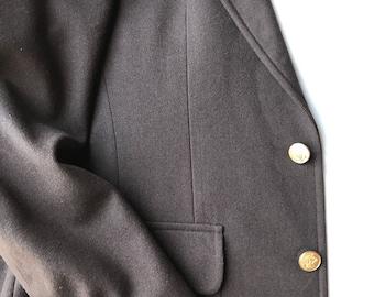 Stanley Blacker Dark Brown Wool Sport Coat - Men's Blazer