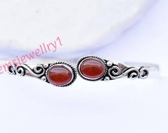 Carnelian stone bangle, bracelet, Gemstone bangle, bangle, Silver bangle, personalised bangle, stone bracelet, indian jewellry