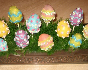 CAKE POPS, Easter Eggs Cake Pops, Easter Cake Pops, Easter Party Favors