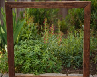 Farmhouse frame, Large Picture Frame, Rustic Frame, Reclaimed wood from 100 year old vineyard, Custom Frame
