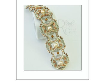 Curves - a curved and layered  beaded bracelet tutorial