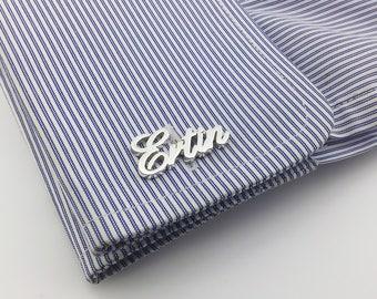 Personalized Cufflinks - Father's day gift- Initial Cufflink - Groom Wedding Cufflinks -Letters Cufflinks - Men Cufflink - Initials Cufflink