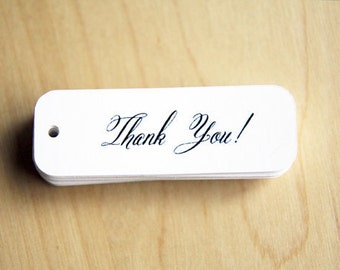 Mini Thank You Tags - Small Thank You Tags - Rustic Thank You Tags - Cute Thank You Tags - Pretty Thank You Tags - 36 Pieces
