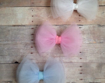Tulle Bow Set, set of 3 bows, tulle bows, ballerina bows
