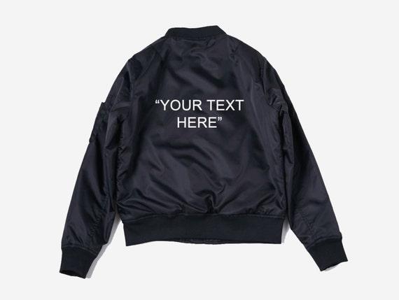 Customizable Personalized Bomber Jacket - custom jacket - custom bomber jacket - custom coat - monogram - custom gift - personalized gift uYrSn