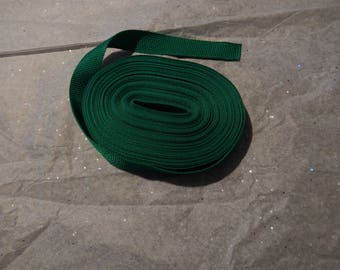 10 yards Medium Nylon Webbing Kelly Green