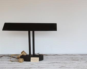 vintage student desk lamp / large fluorescent table lamp, mid-century industrial decor