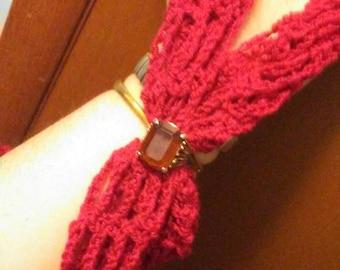 Beautiful Angled Crochet Scarf
