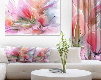 Lovely Painted Floral Design - Extra Large Floral Wall Art - (PT15004)