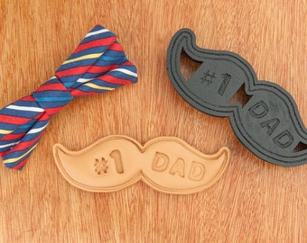 Fathers Day Mustache Cookie Cutter DIY  #1 Dad Cookies