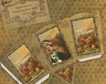 Instant Download Thanksgiving Digital Printable Gift Basket/Box Kit Set 1