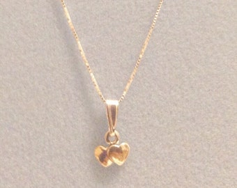 Two Hearts Sterling Silver Necklace