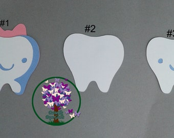 Tooth Die Cut, National Health Week Decor, My 1st Tooth, Tooth Fairy, Dental and Shower Decorations