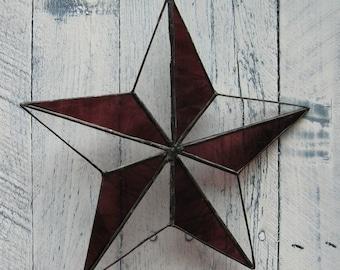 purple 5 point star