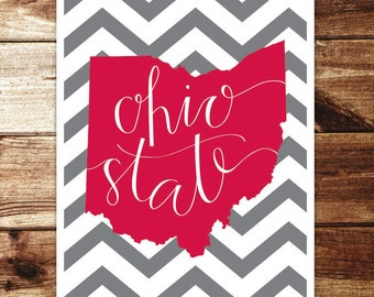 Ohio State Print