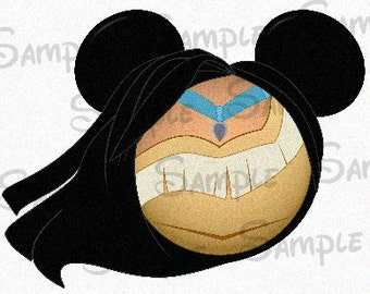 Pocahontas Character inspired Mickey head DIGITAL printable file DIY