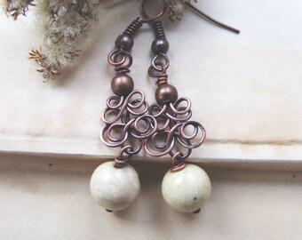 simple earrings tutorial, jewelry tutorial, wire wrapping earrings tutorial, DIY earrings, wire earrings tutorial 30