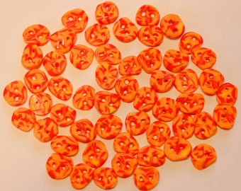 Individual Fimo buttons Orange/yellow diameter: 8-10 mm and 1-2 mm strong 2 holes
