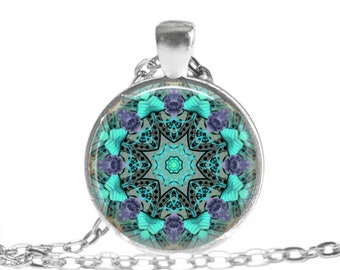 Mandala Art Necklace Mandala Jewelry Yoga necklace Spiritual Necklace Mandala Gift Meditation Jewelry Healing Jewelry Mandala Keychain