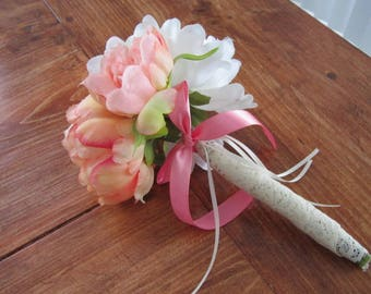 Bouquet, bridal, pink corral peony, bridal bouquet, bridesmaid, maid of honor, peony bouquet, wedding flowers, timelesspeony
