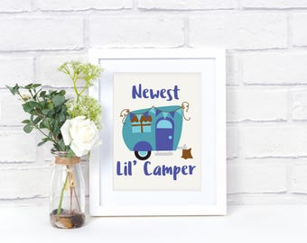 Camping Quote Wall Art - Camping Quote Sign - Camping Quote Print - Camping Sign - Camper Wall Decor - Nursery Artwork Print