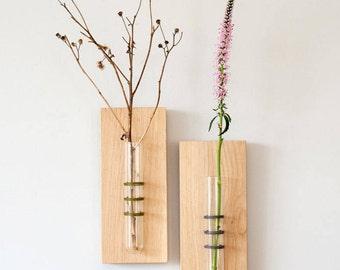 Black Hanging Vase, Wall Decor, Tube Vase, Wall Hanging, Flower Vase, Test Tube Vase, Unique Home Accessory, Mother's Day Gift, Wedding Gift