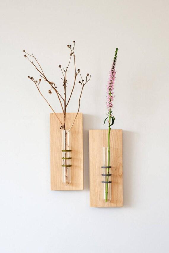 Noir suspendu vase décoration murale tube vase tenture murale vase de fleurs vase tube à essai accessoire maison unique cadeau de fête des mères