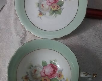 Paragon by Appointment HM The Queen and HM Queen Mary Fine Bone China England Cup and Saucer