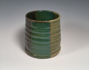 Small Tumbler - Wine Cup - Juice Cup - Bourbon Tumbler - Ocean Green - Ready to Ship- ceramics - pottery - stoneware