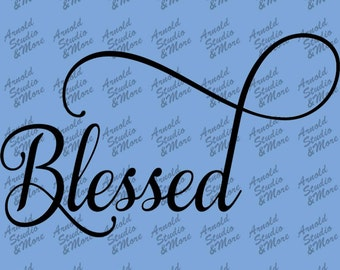 Wall Art Decal Blessed vinyl wall word