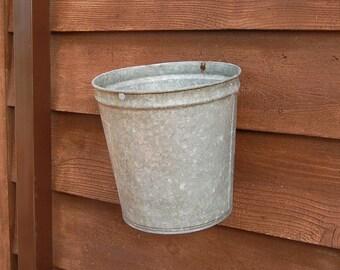 Galvanized Sap Bucket, 2 Gallon Galvanized Sap Bucket, Vintage Bucket, Leader Sap Pail