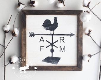 Farmhouse Sign // Chicken weathervane farm sign // farmhouse style // farmhouse decor // farmhouse // weathervane // chicken weathervane