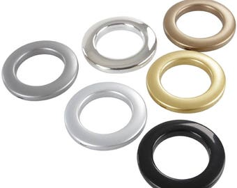 Curtain Eyelets and Rings Clips - Grommets - Different Colours - 10 Pieces - Size 42mm