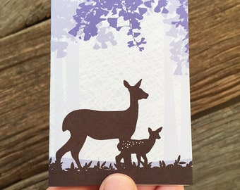 enclosure card / baby card / fawn