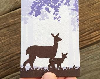 Gehäuse-Karte / Baby Karte / beige