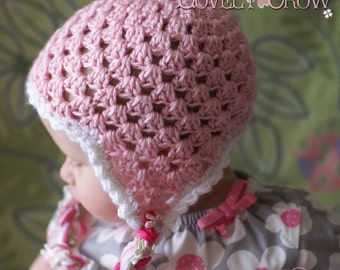 Earflap Beanie Crochet Pattern for Sugar and Spice Earflap Beanie digital