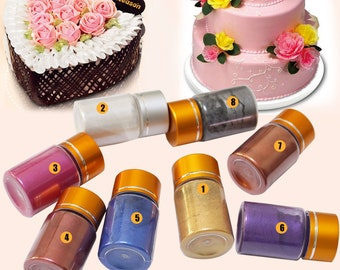Colorful, edible, gold powder,  leaf fondant cake powder, 10g per bottle, home DIY personality Cake \ Biscuits\ Pastry \Food \Baking