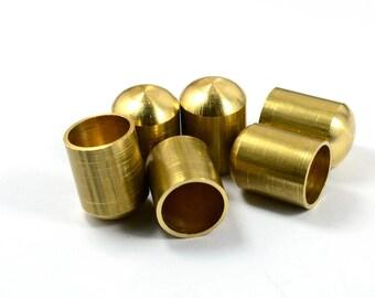 5 Pcs.   Raw Brass   20x15 mm Cord End Cap , İnside Diameter 13 mm