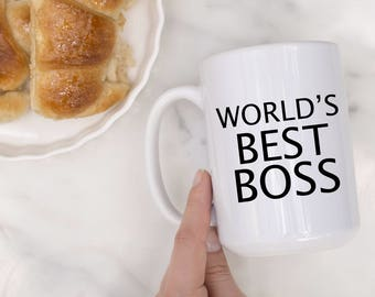 World's Best Boss Mug - Boss Babe, Manager Gift, Gift For Manager, Boss Appreciation, Boss Mug, Best Boss Gift, Gift For Bosses Day