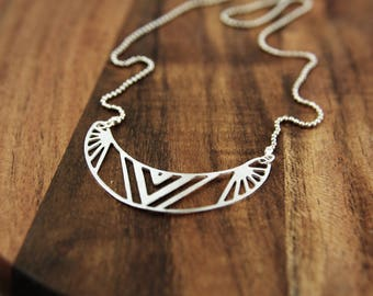 Ethno - silver-plated necklace C65